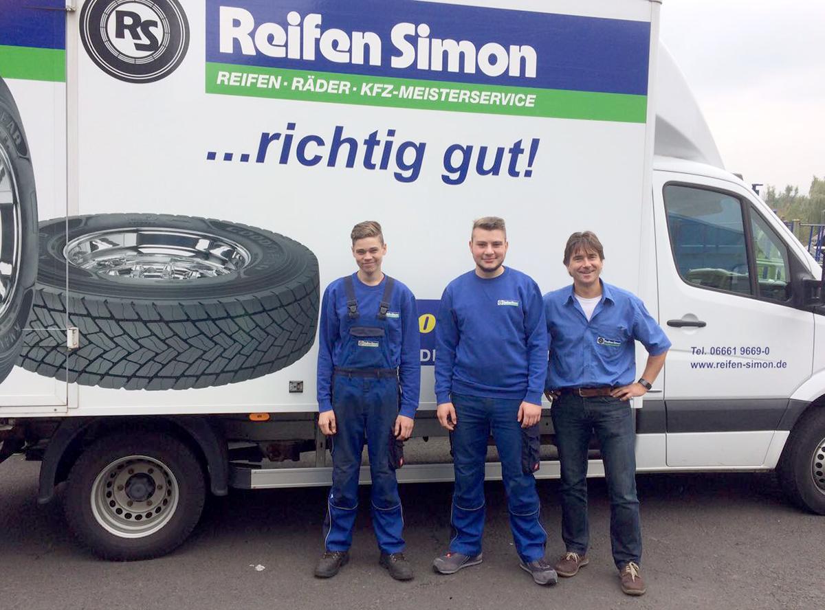 Reifen Simon - Neue Azubis bei Reifen Simon in Schlüchtern