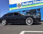 Audi A6 mit Motec Tornado MCT9 High Gloss Silver in 21 Zoll