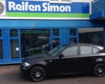 BMW 1er mit Borbet CW1 black polished 8,0 x 18 Zoll