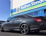 Mercedes C Klasse Coupe mit Carmani 15 Oskar black polish in 19 Zoll
