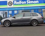 VW Golf VII Variant R mit Meisterwerk MW04 gunmetal polished in 18 Zoll
